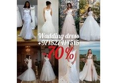 BIG SELL -70%  Wedding dresses Abu Dhabi