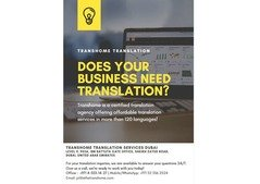 Transhome Translation Services (starts at AED 40.00 per 250 words)