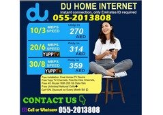 DU HOME INTERNET PACKAGES WITH FREE INSTALLATION