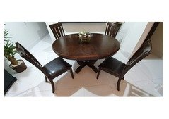 Solid Wood 6 seater dining table with chairs for SALE (Convertible)
