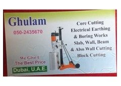Professional core cutting and works also electrical Earthing