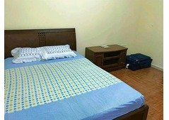 Wide master bedroom with attach bathroom fully furnished