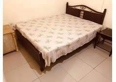 Bed with mattress only 250 urgent sale in Sharjah