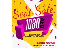 Seat Sale 1080AED DXB-MNL-DXB
