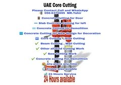 Concrete and Core Cutting Services in  All UAE