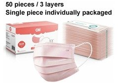 Disposable Face Mask Self Protective Masks 3 Ply 50-100-1000X Medical