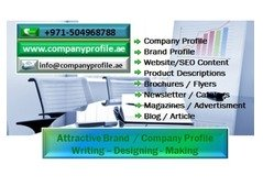 Attractive Company Profile Writing in Dubai, UAE