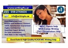 MSC/PhD Thesis & Dissertation Writing Help in Dubai, UAE