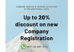 Get up to 20% off discount on Trade Licenses