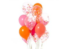 Congratulate your friends with Flamingo Pink Confetti Balloons!