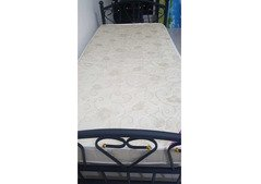 Heavy Duty Metal Single Bed with Medical Mattress