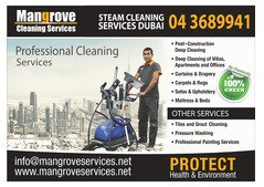 Professional Deep/Steam Cleaning for Villas,Apartments & OFfices
