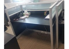 4 Classy Office Tables with Glass Divider
