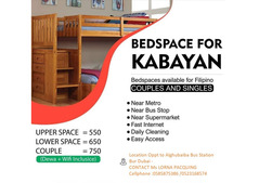 Fully Furnished Kabayan Male and Female Bed Space Available