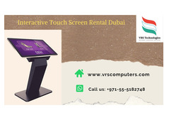 Looking for a Touch Screen Monitor Rentals in Dubai?