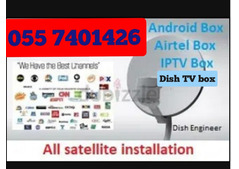 TV CHANNEL 4k IPTV HD BOX AIRTELL DISH  0557401426