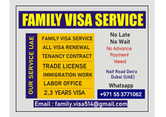 FAMILY VISA SERVICE IN UAE +971-55-3771062