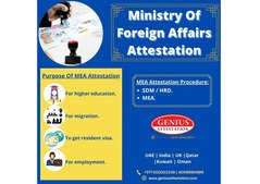 Ministry of Foreign Affairs attestation services in UAE