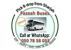Pick and drop from Sharjah to Dubai DIP,Al Quoz,IMPZ,DIC 050 78 58 053