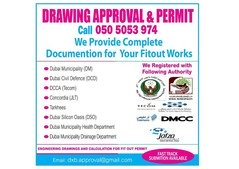 AUTHORITY APPROVAL & DRAWINGS  FOR FIT-OUT WORKS,silicon oasis DSO