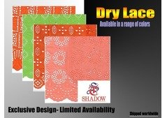 Shadow Dubai Dry Lace Fabric - African Dry Lace in UAE