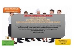 We are Hiring: Part Timers Workers in Sharjah