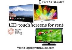 Laptoprentaluae offers  LED touch screens for rent  to