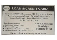 Loan and credit card service
