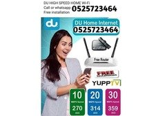 10 % Discount Du Home Internet And WiFi All over in UAE