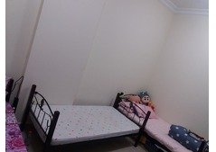 Single bed space partition available in peaceful place