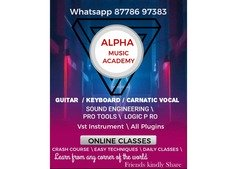ONLINE MUSIC CLASSES FOR GUITAR PIANO CARNATIC VOCAL VIDEO CLASS