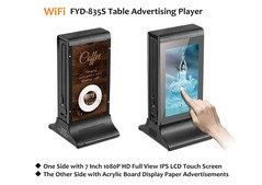 "Funsuper 7"" LCD WiFi Table Advertising Player Mobile Charger FYD835S"