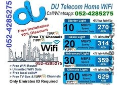 DU Internet Packages 0524285275 and Free installation